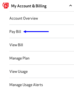 Image: Pay Bill - My Verizon App Screenshot