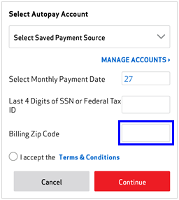 Image: MVM Enroll in Autopay Screenshot