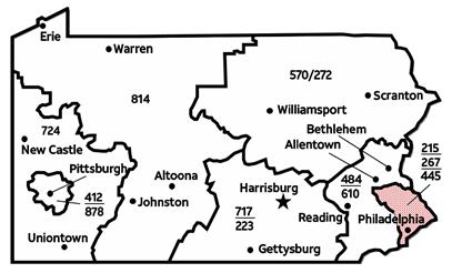 Pennsylvania Overlay For Area Codes And FAQs Verizon - 570 area code
