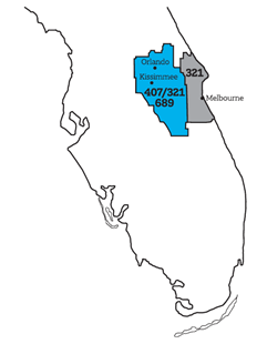 Florida 689 Area Code Overlay to 407 321 Overlay FAQs on