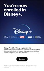 Image: Disney Plus Sign Up with My Verizon app
