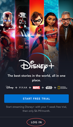 Image: Disney Plus app steps