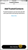 Image: Verizon FamilyBase  Add a Trusted Contact