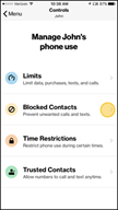 Image: Verizon FamilyBase Block a Number