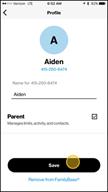 Image: Verizon FamilyBase  Change a Child Line to a Parent Line