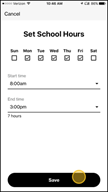 Image: Verizon FamilyBase Create a School or Night Time Restriction