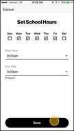 Image: Verizon FamilyBase Edit the School and Night Hour Activity Windows