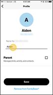Image: Verizon FamilyBase  Name a Child Line