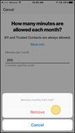 Image: Verizon FamilyBase Remove a Call Limit