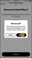 Image: Verizon FamilyBase Remove Content Filters