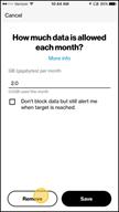 Image: Verizon FamilyBase Remove a Data Target