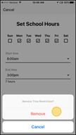 Image: Verizon FamilyBase  Remove a Time Restriction