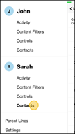 Image: Verizon FamilyBase  View List of Contacts