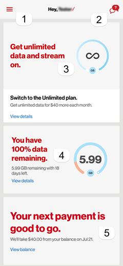 Image: Get to know the My Verizon app feed screenshot