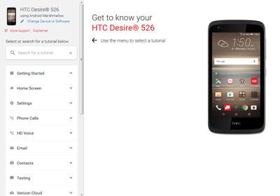 htc desire 526 support verizon wireless rh verizonwireless com htc android phone instructions HTC Droid Eris Cell Phone