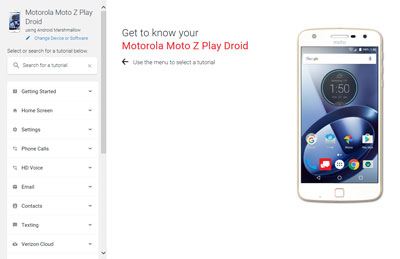 What information can you find in Motorola user guides?