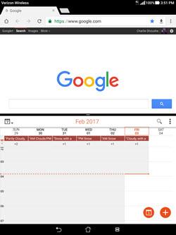 Asus Zenpad Z10 Multi-window Mode screenshot