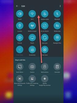 Asus Zenpad Z10 Quick Settings screenshot