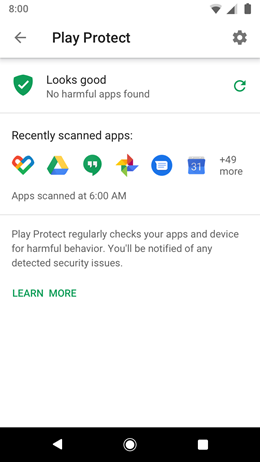 Google Pixel XL New Privacy Recommendations screenshot
