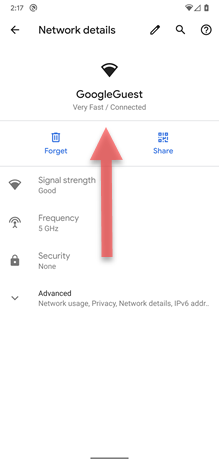 Google Pixel XL Wi-Fi Easy Connect screenshot