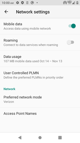 Kazuna eTalk MYFLIX Network Settings screenshot
