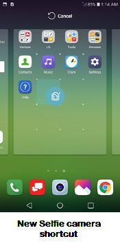 LG G5 App Shortcuts screenshot