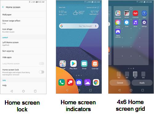 LG G6 Home Screen screenshot