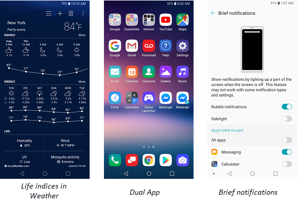 LG V30 Fundamental Enhancements screenshot