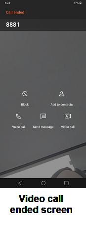 LG V40 ThinQ Calling and Messaging screenshot