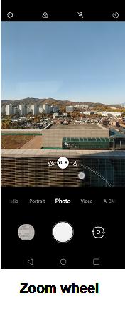 LG V40 ThinQ Camera screenshot