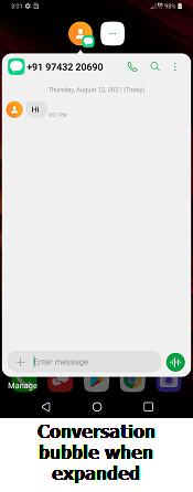 LG V50 Conversation Bubbles screenshot