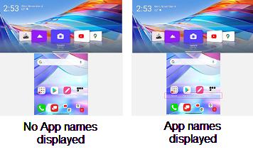 LG WING App Names screenshot