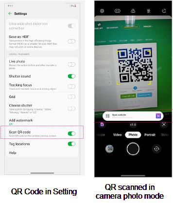 LG WING QR Code screenshot