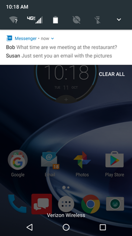 Motorola Maxx 2 Bundled Notifications screenshot