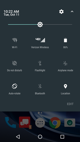 Motorola Maxx 2 Quick Settings screenshot