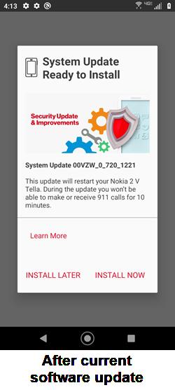 Nokia 2 V Tella Post-download screenshot