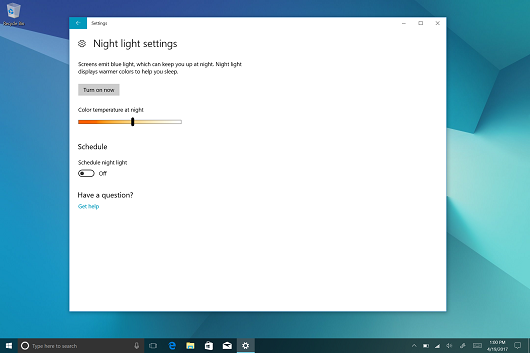 Samsung Galaxy Book Night Light screenshot