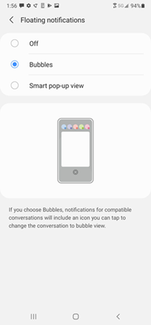 Samsung Galaxy A71 5G UW OS 11 Update screenshots
