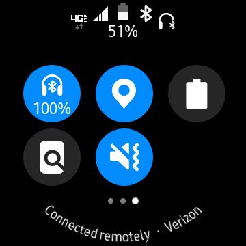 Galaxy Watch Earbuds Battery Level screenshot