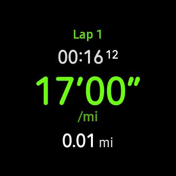Galaxy Watch Record Laps screenshot