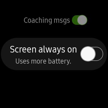 Galaxy Watch Workouts screenshot