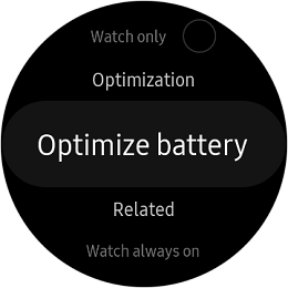 Samsung Galaxy Watch Optimized Battery screenshot