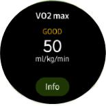 Samsung Galaxy Watch3 Maximum Oxygen Consumption screenshot