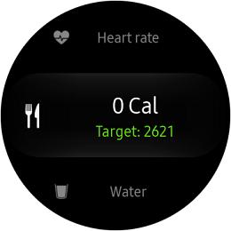 Samsung Gear S2 Classic and Gear S2 Sport Calorie Menu