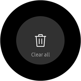Samsung Gear S2 Classic and Gear S2 Sport Clear All Function
