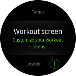 Samsung Gear S2 Classic and Gear S2 Sport Workout Screen