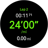 Samsung Galaxy Gear S3 Frontier Record Laps screenshot
