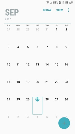 Samsung Galaxy J3 Nougat Update - Caller and Calendar screenshot