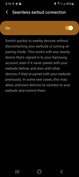 Samsung Galaxy Note10 5G Galaxy Buds screenshot