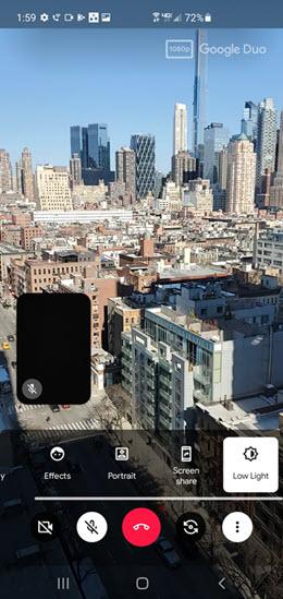 Samsung Galaxy Note10 Video Call Enhancements screenshot